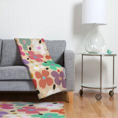 Garima Dhawan Dogwood Vintage Fleece Throw Blanket | DENY Designs Home Accessories