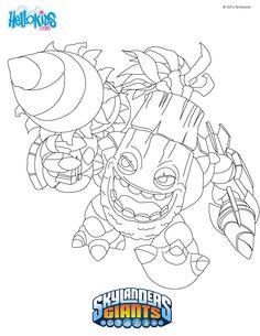 Skylanders Coloring Page :: Zook