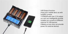 ADEASKA SQ4 Intelligent LCD Display USB Battery Charger for IMR/Li-ion Ni-MH/Ni-Cd/LiFePO4 Battery