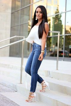 18f341e617d 44 Best White top with jeans! images in 2019
