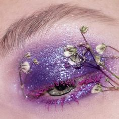 Haze   I love using flowers 😍 today's look is in collaboration with @gandalf_sandwich so go over to her page later on and check her post! 💛  @daisyface_florals gypsophila  @limecrimemakeup unicorn queen diamond crusher  @sugarpill love+ . . . . . . . #mua #makeup #makeuplife #makeupartist #editorialmakeup #flowers #eotd #lashes #lipstick #limecrime #shrinkle #sugarpill #smokeyeye #makeuplook #makeuplover #makeupfanatic1 #lipstick #eyeshadow #100daysofmakeup Diamond Crushers, Flowers Today, Gypsophila, Gandalf, Smokey Eye, Floral Motif, Watercolor Tattoo, Makeup Looks, Lashes