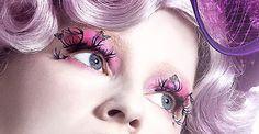 Clearly I do not want to emulate most of this style, but I love her eyelashes