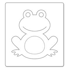 1 million+ Stunning Free Images to Use Anywhere Frog Crafts, Preschool Crafts, Diy And Crafts, Crafts For Kids, Paper Crafts, Frog Applique Pattern, Fox Pattern, Applique Patterns, Frog Template