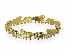 Cristalina 18K Gold Plated Elephant Parade Bangle with hand enamelling... made with Swarovski elements. http://www.cristalinajewellery.com/2014/02/cristalina-elephant-parade-bangle.html