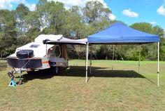Fast setup awning for TVAN Mark 11 and 111 - Caravan Ideas Awning Gazebo, Caravan Awnings, Caravan Ideas, Outdoor Structures, Caravan Porch Awnings