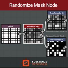 Randomize Mask Node / Variation Map for Substance Designer, Sergey Danchenko on ArtStation at https://www.artstation.com/artwork/1alxX