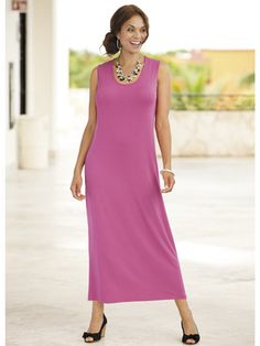 Versatile Knit Maxi Tank Dress