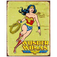 Wonder Woman Metal Sign