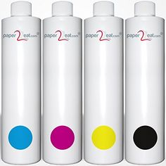 paper2eat Multipack of 4 x Edible Ink Refill Bottles (4 x 32 fl. oz.) for all Canon Printer Models -- Awesome deals : Baking desserts tools