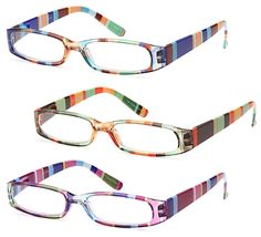 GAMMA RAY READERS 3 Pairs Ladies' Readers Quality Reading Glasses for Women - With +1.50 Magnification