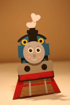 Thomas Train Pyramid card by figaro - Cards and Paper Crafts at Splitcoaststampers