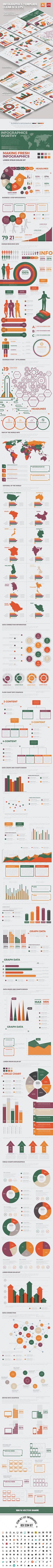 Big Infographics Template Design — Vector EPS #corporate #pie • Download ➝ https://graphicriver.net/item/big-infographics-template-design/19632700?ref=pxcr