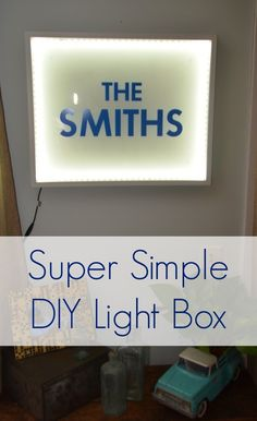 Simple light box using shadow box frame and LED light strips... could be a super cute gift or a dorm room decor!