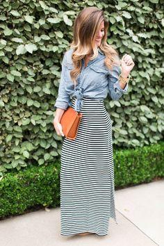 striped maxi dress +
