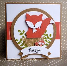 "handmade greeting card ... punch art fox using punch from ""Foxy Friends"" suite ... Stampin' Up!"