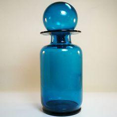 Glas Vase Karaffe Dekanter Bottle • Holmegaard, Empoli, Murano, Blenko? • 26 cm