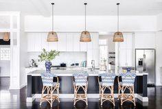 Kitchen from hamptons-style queenslander in brisbane. Beach House Kitchens, Home Kitchens, Dream Kitchens, Layout Design, Design Ideas, New Kitchen, Kitchen Decor, Kitchen Ideas, Kitchen Inspiration
