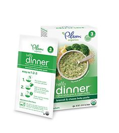 Plum Organics Baby Hello Dinner, Broccoli/Cheese, 5 Count >>> Details can be found by clicking on the image.