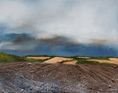 Into the distance Oil and mixed media on canvas Mixed Media Canvas, Mixed Media Art, Contemporary Artists, Modern Art, Art Gallery Uk, Artist Painting, Paintings For Sale, Landscape Art, Distance