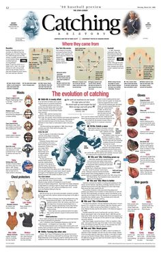 Catching, A History '98 Baseball Preview INFOGRAPHIC by Mike Scott:  Behance