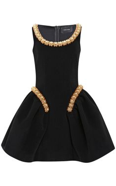 SIMONE ROCHA Bonded Wool Beaded Dress $3,720($1,860 deposit)