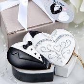 Bride & Groom Trinket Box Favours Set Of 10 (Discount For Bulk)