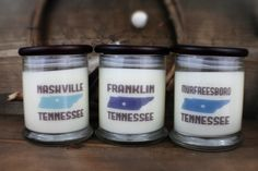 Pick Two  I Heart Tennessee  Natural Soy by HighlandBluffStudio