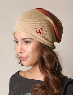 Striped Om Street Beanie
