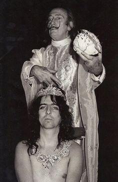 Salvador Dalí and Alice Cooper