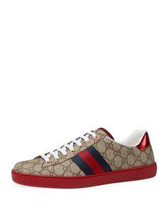58c8a48c1cae1 Gucci Women - Ace GG Supreme low-top sneaker - 433900K2LH09767 ...