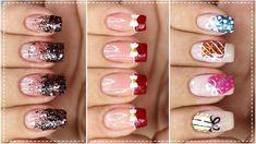 03 UNHAS DECORADAS PARA O NATAL - Nail Art Easy | Gersoni Ribeiro Nail Art, Nails, Easy, Candy Cane Nails, Nailed It, Finger Nails, Ongles, Nail Arts, Nail Art Designs