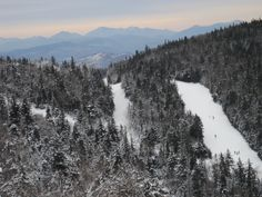 View of Gore ski trails in North Creek New York go to http://americanroads.net/adirondack_trail_mix_winter2014%20.htm for the rest of the story
