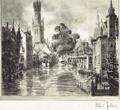 Bruges, le Quai du Rosaire, Albert Goethals