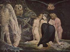 """William Blake - Hécate ou """"The Night of Enitharmon's Joy"""" (1795)."""