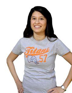 Titans Ladies Tee - Gray | CAL STATE FULLERTON