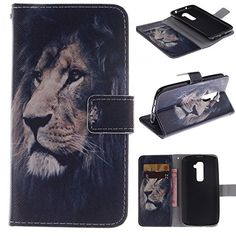 Moto E Gen) Case,E-weekly [Kickstand Feature][Money Card Slot] [Double Sided Design] Premium Soft TPU Synthetic Leather Wallet Cover For Motorola Moto E Generation) (Lion) Black Iphone 7 Plus, Apple Iphone 6s Plus, Iphone 6 Plus Case, Iphone 7 Covers, Iphone Cases, Iphone 8, Iphone 7 Protective Case, Lg Stylus 2, Cheap Phone Cases