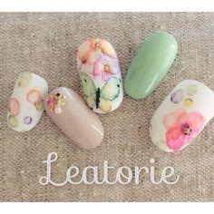 春のネイルはこれで決まり♩春らしくて可愛いネイルデザインカタログ♡にて紹介している画像