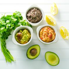 Burger Toppings - 3 easy spreads made out of beans and avocado
