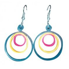 Multi Coloured loops hangings - light weight paper jewellery