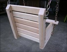 Child's Swing Plans – High Low Swing – Woodwork City Free Woodworking Plans – desinghandmade Wooden Baby Swing, Wooden Swing Chair, Wood Swing, Woodworking Square, Woodworking Plans, Woodworking Projects, Japanese Woodworking, Youtube Woodworking, Woodworking Patterns