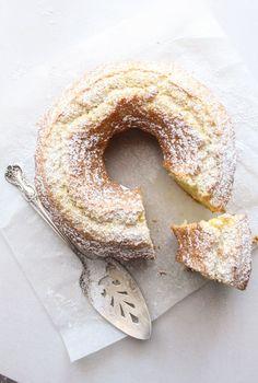Authentic Italian Fresh Cream Lemon Cake - AN ITALIAN IN MY KITCHEN, ,