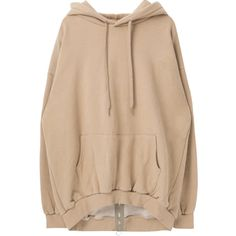 Back Zipper Oversized Hoodie ❤ liked on Polyvore featuring tops, hoodies, hooded sweatshirt, oversized hoodies, bunny hoodie, drawstring hoodie and oversized hooded sweatshirt