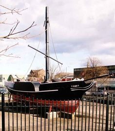 Replica of the PS Comet, Port Glasgow, Renfrewshire - Europe's first commercially successful steamboat which was built here