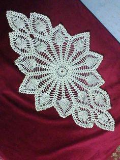Oval crochet doily new hand crocheted doilies ecru doily Vintage Crochet Doily Pattern, Crochet Table Runner Pattern, Crochet Gloves Pattern, Crochet Dollies, Crochet Chart, Thread Crochet, Hand Crochet, Crochet Patterns, Diy Crafts Crochet