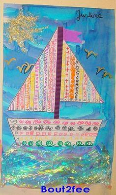 """Zoekresultaat voor """"GS boat graphics"""" - My Bilder New Year's Crafts, Sea Crafts, Summer Crafts, Preschool Arts And Crafts, Preschool Activities, Drawing For Kids, Art For Kids, Rainbow Fish Crafts, Bird Nest Craft"""