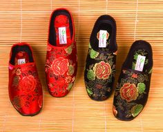 Chinese Brocade Slippers dress up