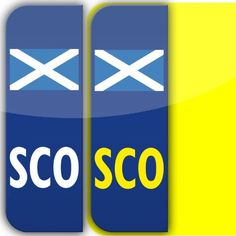2 x Scotland SCO Badge Car Number Plate Self-adhesive Vinyl Stickers UK legal scottish flag decals stika.co http://www.amazon.co.uk/dp/B00CJKV8HI/ref=cm_sw_r_pi_dp_CTi5vb072H8VP