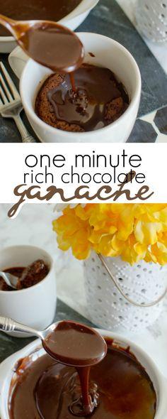 one minute chocolate ganache