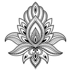 lotus flower tattoo designs: Henna tattoo flower template in Indian style. Ethnic floral paisley - Lotus. Mehndi style.