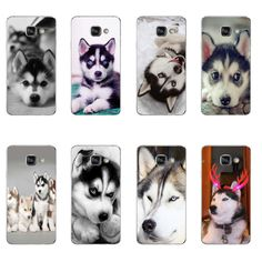 Phone Case For Samsung Galaxy A3 A5 A7 (2016) A8 A9 Back Cover Note 4 5 7 TPU Shell Cellphone Wacky Husky Design Painted